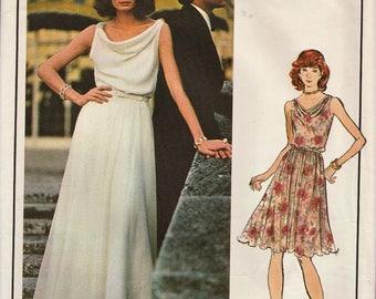 Vogue Paris Original 1054 / Vintage Designer Sewing Pattern By Nina Ricci / Dress Gown / Size 18 Bust 40