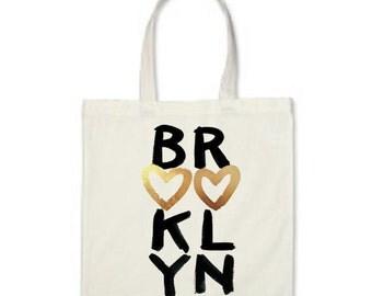Brooklyn Canvas Tote Bag - White Cotton Canvas Tote