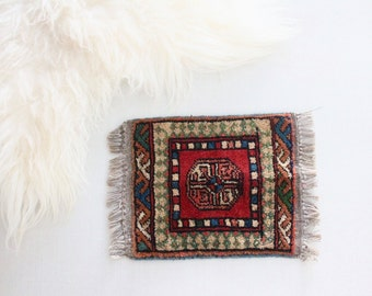 S A L E vintage hand tied wool persian prayer rug