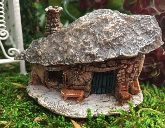 Mini Micro Rock Top House, Fairy Garden Accessory, Mini Fairy Troll House Style 17446, Miniature Garden Decor, Topper, Shelf Sitter