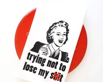 Lose My S**t Floursack Towel Cotton Funny Kitchen Towels Hipster Housewife Gift Tea Towel Mother's Day Nashville Tennessee Wholesale