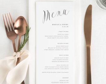 Ethereal Calligraphy Dinner Menus - Deposit