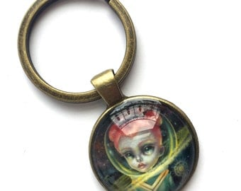 Holiday Special - Keychain - Andromeda - special edition printed cameo key chain by Mab Graves