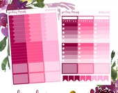 Printable Pink Solid Add-On Planner Stickers MAMBI Happy Planner EC Stickers in Pdf, Jpeg, Png and BONUS Sil Files