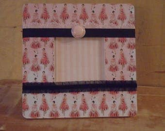 French Girls in Dresses Decoupaged Picture Frame