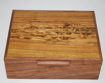 Handcrafted Walnut & Figured Bocote Watch box