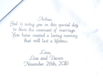 Special keepsake for Pastor gift, Priest gift, Thank you, Bless the Covenant of Marriage, Pastor appreciation gifts Gift Canyon Embroidery