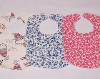 Set of 3 bibs for Bitty Baby or other baby doll