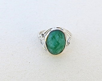 Emerald Ring, Green Stone Ring, Big Stone Ring, Statement Rings, Unique Rings, Stone Ring, Bohemian Jewelry, Unique Jewelry, Classic Jewelry