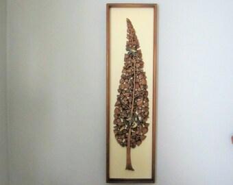 Mid Century Rare Syroco Wood Wall Hanging