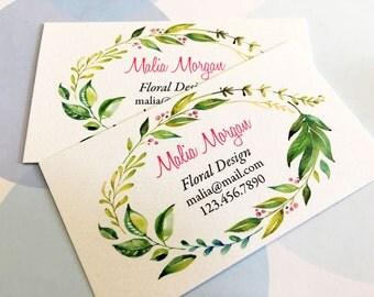 Custom Business Cards, Business Cards, Set of 50