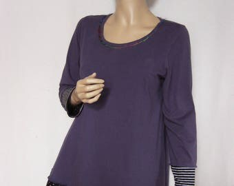 Size L Pansy Cotton Tunic