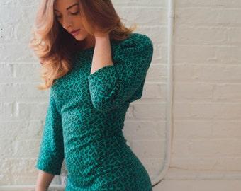 Vintage 1990's Animal Print Knit Dress
