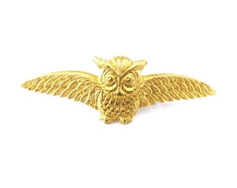 Owl Brooch Gold Bird Lapel Pin Forest Animal Nature Rustic Woodland Wedding Boutonniere Groomsmen Gifts Mens Accessories Womens Gift For Her