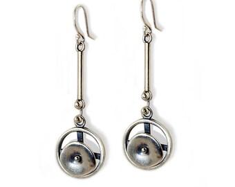 Circles in Motion Linear Earrings