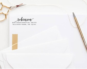 Return Address Stamp, self inking stamp, wedding gift, housewarming gift, custom address stamp, realtor gift