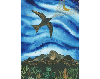 Fine Art Print-Moon Language of the Black Swift