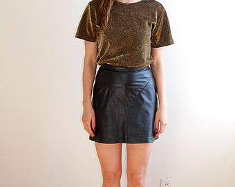 Vintage 90s gold sparkly top