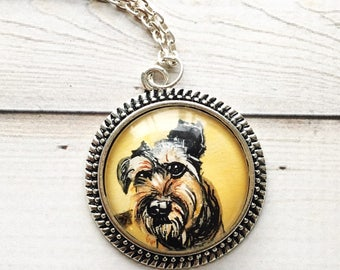 Schnauzer Jewelry- Dog Memorial Necklace- Pet Memorial Jewelry- Personalized Pet Necklace- Schnauzer Gifts- Loss of Pet Gift- Pet Lover Gift