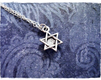 Miniature Star of David Necklace - Sterling Silver Star of David Charm on a Delicate Sterling Silver Cable Chain or Charm Only