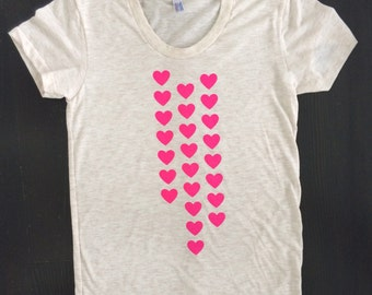 Sample Sale - Pink Hearts Women's T-Shirt