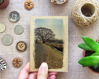 Big Tree Notebook 22 - Mini Travel Pocket Size - By the big tree, I'll wait for you, Kanagawa Japan - Inspirations in your Pocket