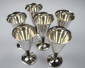 50% Off  Silverplated Wine/Champagne Goblets Set of Six