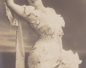 Parisian Artiste Mlle. Berané by Georg Gerlach, posted 1906