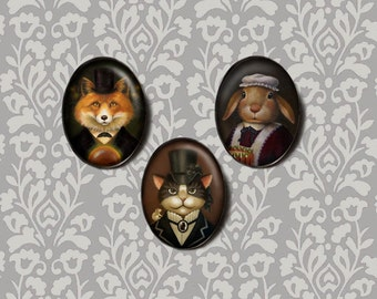 Simple Oval Setting with any Portrait, Custom, Animal Portriat, Victorian, Anthropomorphic,