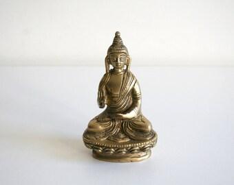 Baddha Brass Statuette