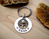 HUGE SALE NOW Nana Keychain, Family Tree Nana Gift, Christmas Gift for Nana, Nana Keychain, Name of Grandkids, Personalized for Grandma
