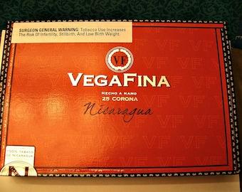 Cigar Box for Crafting - Vegafina - Corona - Empty Box