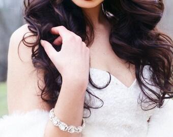 Rhinestone Bridal Bracelet, Wedding Bracelet, Bridal Bracelet, Vintage Wedding, Wedding Accessories