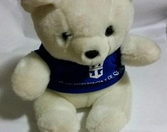 Vintage Royal Caribbean Sovereign of the Seas souvenir plush white bear