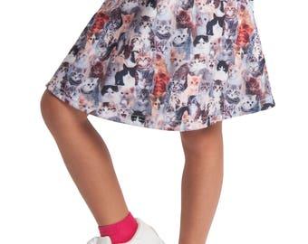 Cats Meow Kids Skater Skirt