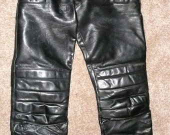 Vintage Fieldsheer Black Leather Racer Pant