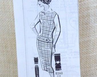 Vintage Pattern Patt-o-rama dress sewing vest pencil skirt Wiggle Dress First Lady Suit 1950s Bust 36 vest blouse slim skirt