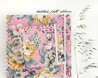Fabric album, DELILAH IN PINK Instagram album, scrapbooking album, brag book