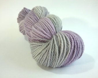 CLEARANCE...REDUCED...Peace of Mind hand dyed Blue Faced Leicester aran weight superwash yarn