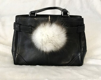 Faux Fur Pom Pom keychain, Big Fur Pom Pom, Keychain Accessories