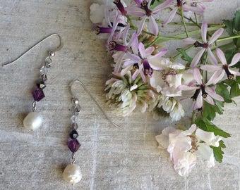 Pearl & Swarovski Earrings