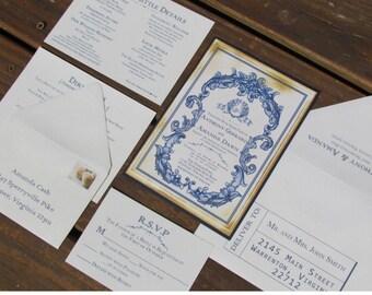 Vintage Wedding Invitation - SAMPLE