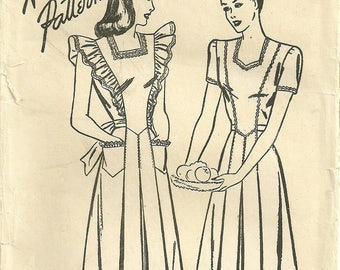 Women's Dress Pattern Unused Sleeveless or Short Sleeve Bust 34 Advance 4139 Size 16 FF