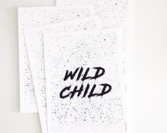 WILD CHILD / A5 Print