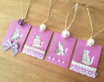 cat gift tags,  proceeds to charity