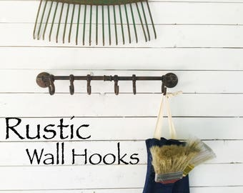 Wall Hooks, Rustic Wall Hooks, Cast Iron Wall Hooks, Wall Hooks Vintage Hooks, Wall Hook, Rustic Wall Hooks, Industrial Coffee Holder