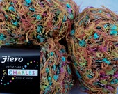 2 balls Cotton Blend Variegated Yarns Fiero by Stacy Charles Color 12  made in Italy