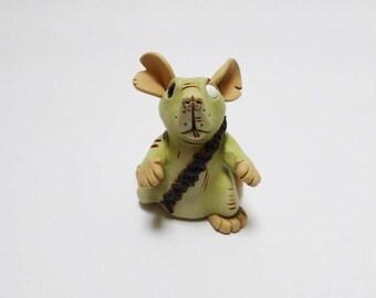 Zombie Rat Sculpture Pet Rat Ornament Horror Fancy Rat Mouse Figurine
