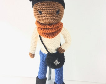 Afro Puff Cutie Collection African American Crochet Doll READY TO SHIP