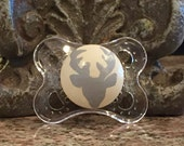 Deer Silhouette Custom Hand Painted Pacifier by PiquantDesigns
